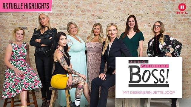 RTL II - Jung, weiblich, Boss! Mit Designerin Jette Joop